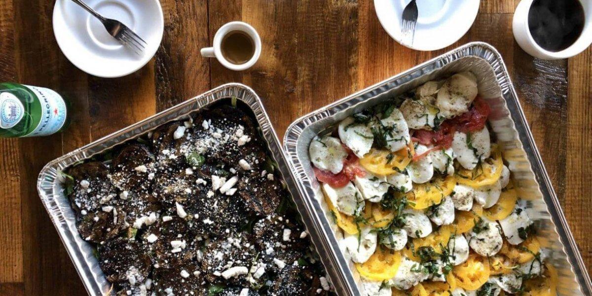 Catering Italian salad trays